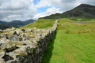 Hardknott Roman Fort, Lake District, UK