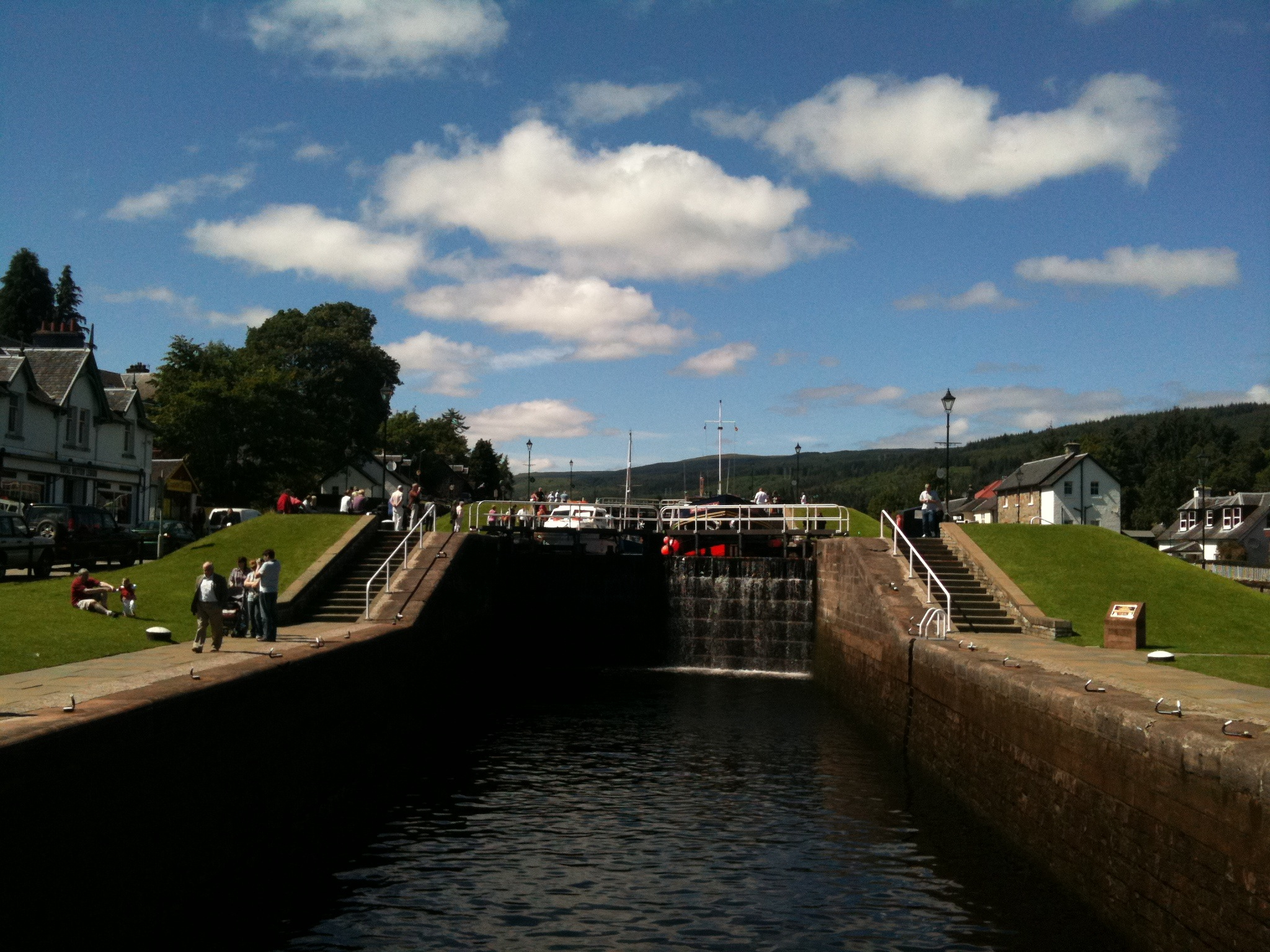The lock at Fort Augustus