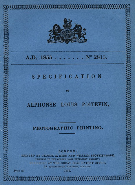 Alphonse Poitevin - Patent for Photolithography, 1855