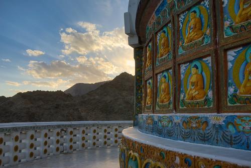 light sunset sky cloud india colour stupa buddhism leh hdr ladakh photomatix