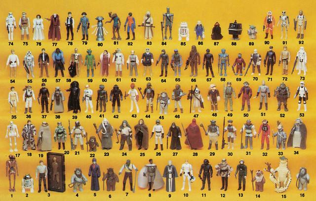 92-Back Star Wars Action Figure Poster