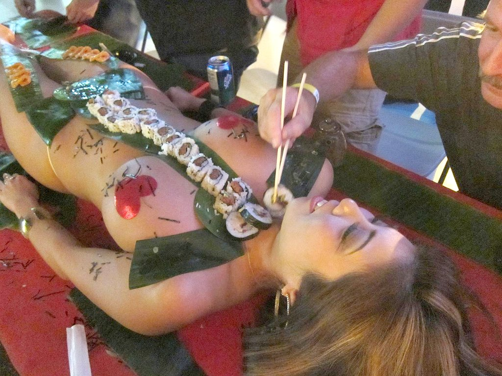 Naked sushi chicago eat off girl exotic porn