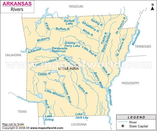Arkansas River Map | www.mapsofworld.com/usa/states/arkansas ...