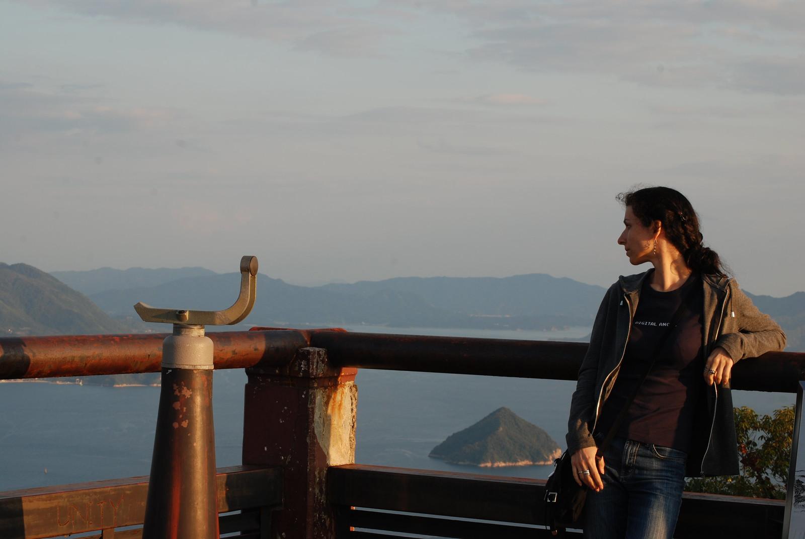 Mirador del monte Isen en Mijayima, se ve el mar interior