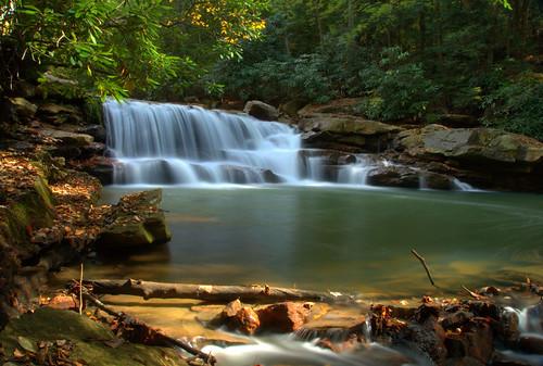 waterfall westvirginia prestoncounty deckerscreek