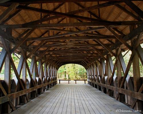 fall scenery maine bridges covered