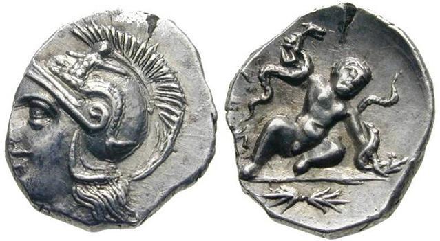 -0250 Atenea y Heracles y las serpientes