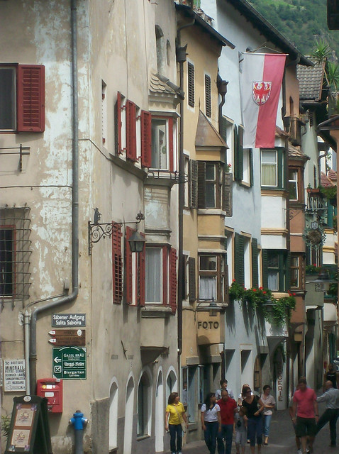 Il nucleo storico di Chiusa (Bolzano): via Città Bassa, via Città Alta
