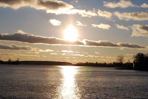 sunset water stlawrence