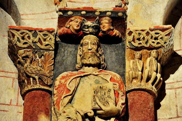 107 - Capiteles Santiago - iglesia Santiago - Turégano (Segovia) - Spain