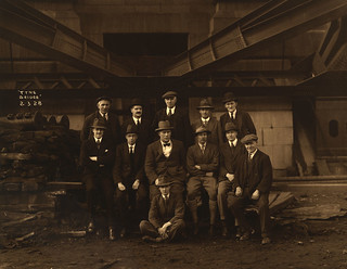 Tyne Bridge construction staff