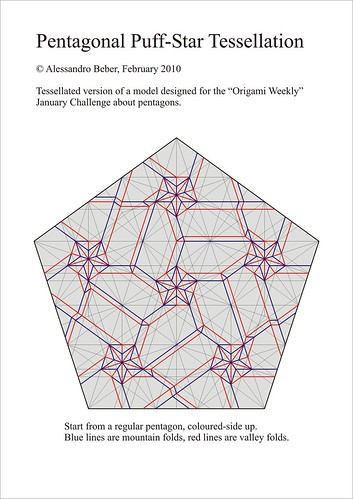 Pentagonal Puff-Star Tessellation CP   by ale_beber_origami