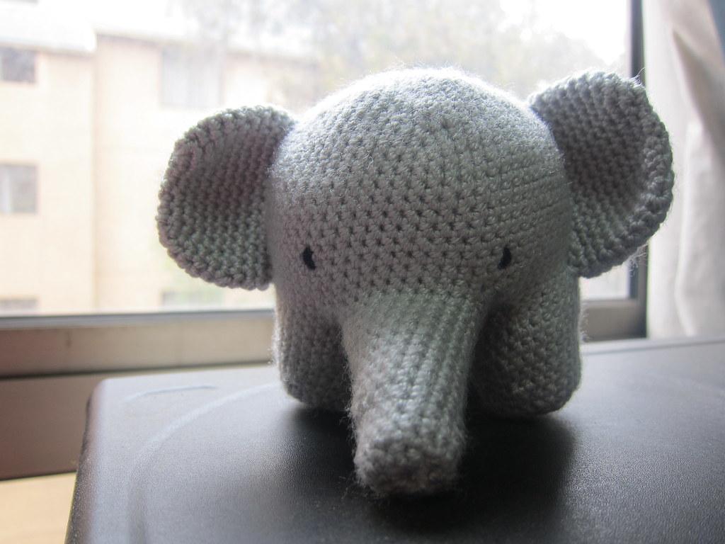 Elvie the Amigurumi Elephant - crochet PDF pattern by Airali design | 768x1024