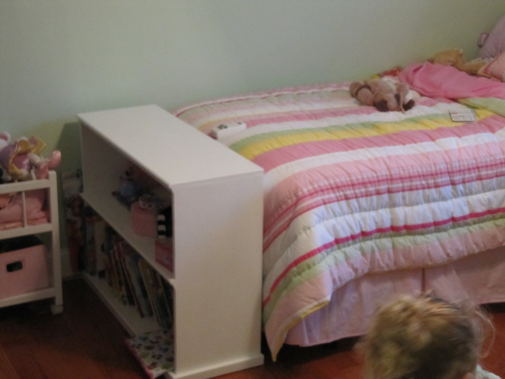 Foot Of The Bed finished bookcase at foot of bed | custom bookcase at the fo