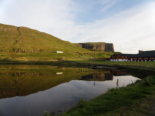 Vatnið and the Sports Area on Vágseiði, Vágur, Faroe Islands