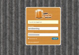 BendBeerBlog.com Login