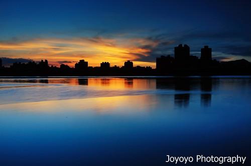 sunset black river twilight nikon sundown taiwan card taipei 台灣 台北 technique 日落 nightfall tamsui 淡水河 大稻埕 d90 黑卡 joyoyo 搖黑卡