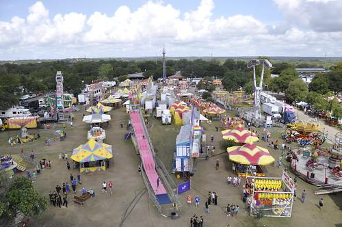 carnival clouds tents texas horizon slide fair aerial countyfair comalcountyfair