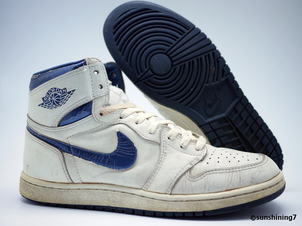 outlet store 48ef2 c8c83 ... Sunshining7 - Nike Air Jordan I (1) OG 1985 - Metallic Blue - US10