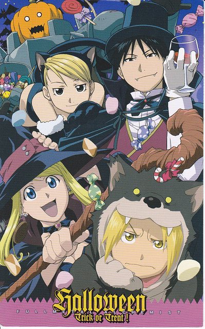 Full Metal Alchemist Halloween Postcard