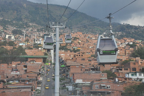 Metrocable - Reaching the least developed suburban areas of Medellín   by Jorge Lascar