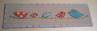 Sketchy Birdie Family (bound) | by Erin @ Why Not Sew? Quilts