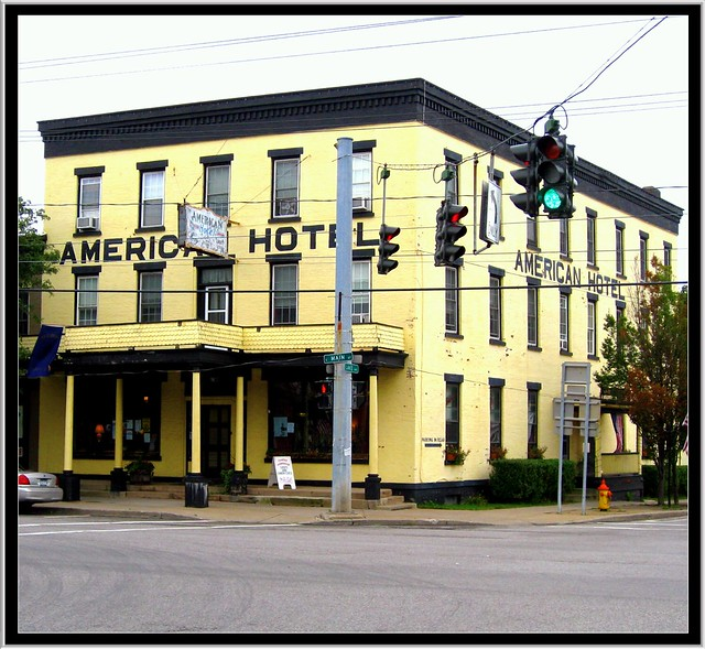 Lima NY ~ American Hotel ~ View from the Four Corners