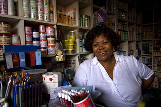 Woman in small shop Ghana | by World Bank Photo Collection