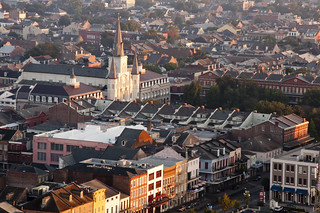 St. Louis Cathedral and Jackson Square   by vxla