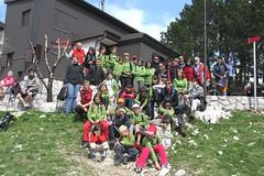013. Il gruppo Montikids del CAI Gorizia, alla Tumova Koca, sul monte Slavnik (Taiano), 1028 m.