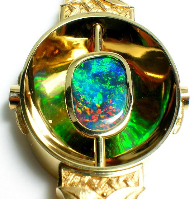Black Opal:  Detail of Scott Schreiber One-of-a-Kind