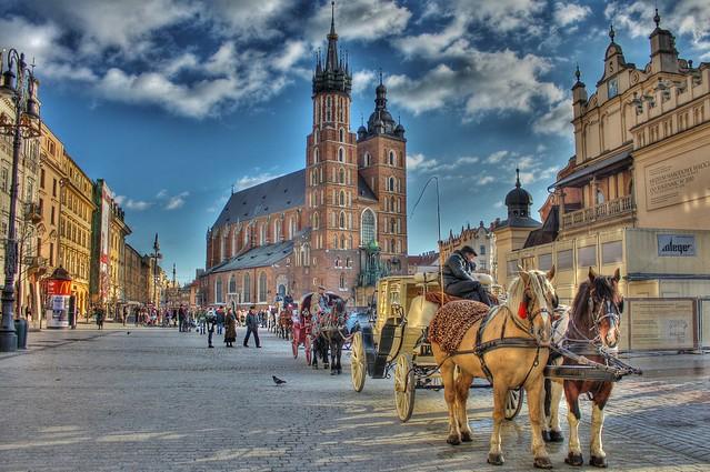 Rynek Krakow Christmas 2009 HDR