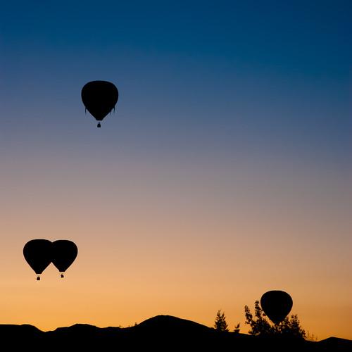 sky mountains silhouette sunrise nevada balloon hotairballoon reno greatrenoballoonrace nikond80 southpaw20 nikkor18135mmf3556dx