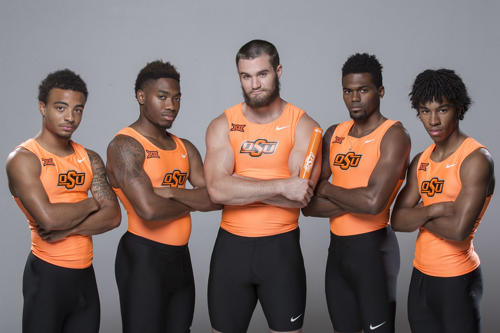 Oklahoma State University Track and Field, 4 x 100 Team, W ...