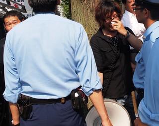 2015.7.12|首相官邸前|頑張れ日本!全国行動委員会による街宣に対するカウンター活動|Protest Against Rally by Japanese Right-Wing Group Outside the Prime Minister's Residence in Tokyo, 2015/7/12.