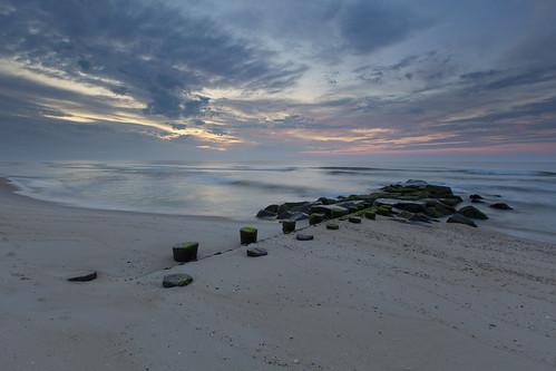 ocean beach sunrise island us newjersey unitedstates nj lbi longbeachisland oceancounty partlycloudy surfcity 2015