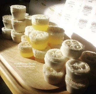 Loofah soap - 3 scents to choose from