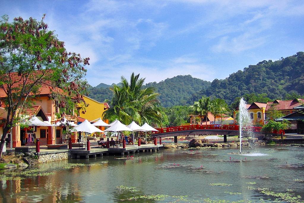 Scenic beauty of the oriental village