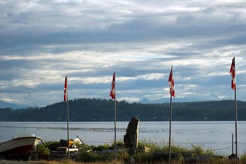 canada sunrise d50 britishcolumbia flags vancouverisland campbellriver