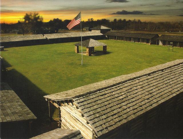 Fort Gibson Stockade Postcard
