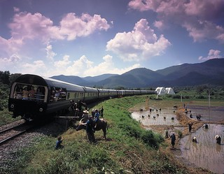 View of the Eastern Oriental Luxury Train | by Train Chartering & Private Rail Cars