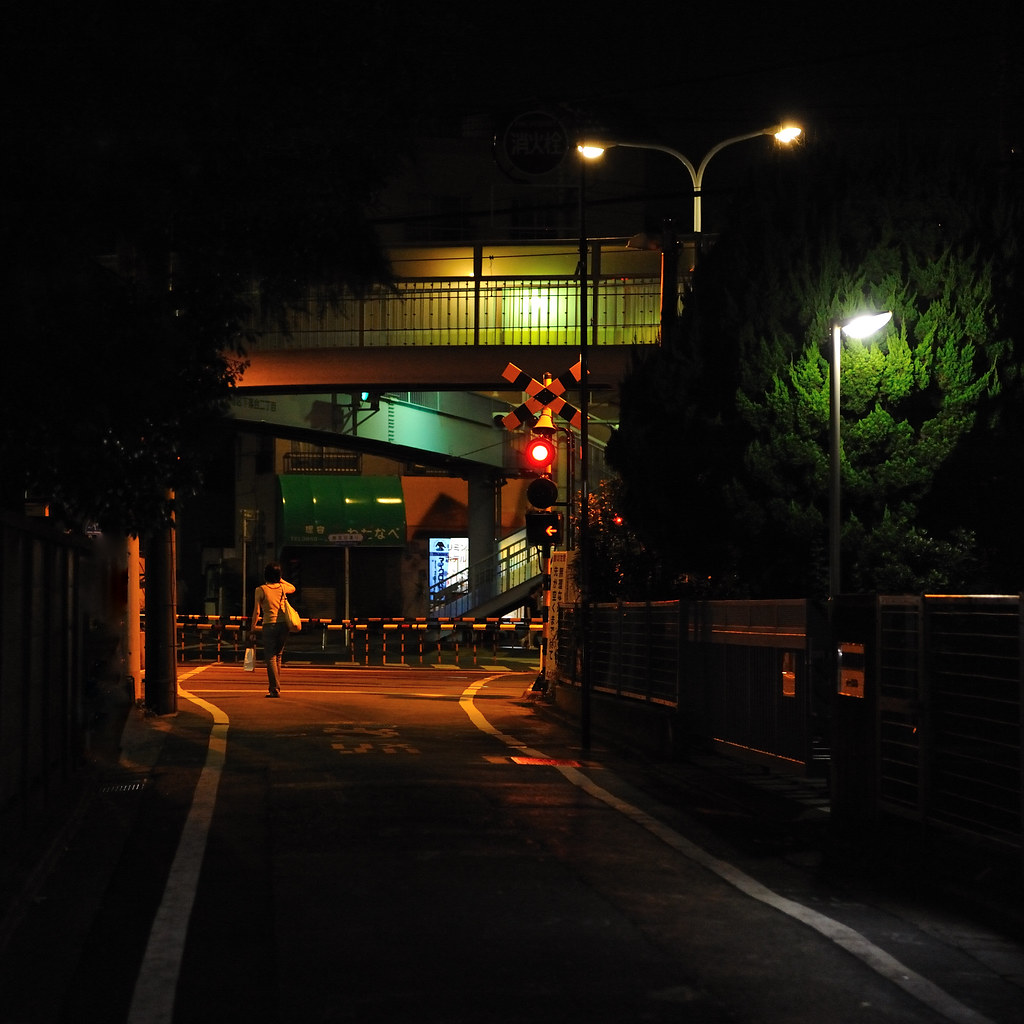 踏切 A rail crossing by arapy