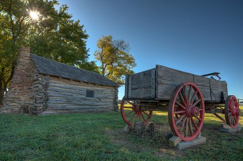 wagon kansas prairie littlehouse