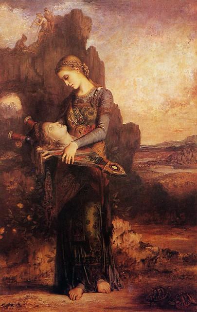 +1865 Las Ninfas encuentran la cabeza de Orfeo