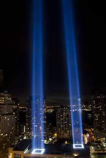 9/11 World Trade Center Tribute in Light, Sept. 11, 2010, ProPublica office | by Dan Nguyen @ New York City