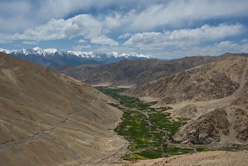 sky cloud india mountain green landscape valley ladakh