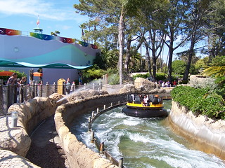 Aidan and Scott shoots water at the passengers in the Shipwreck Rapids ride. | by lori05871