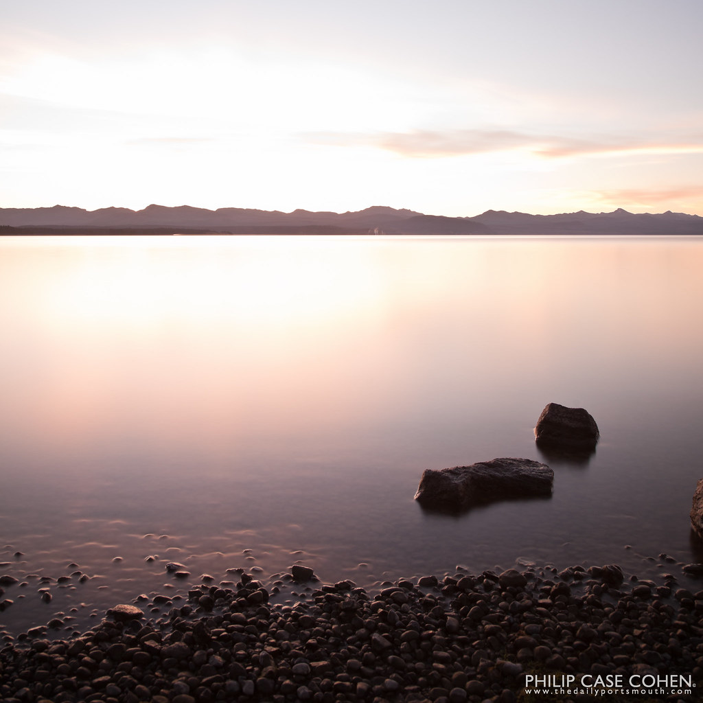 Sunrise at Yellowstone Lake III by Philip Case Cohen