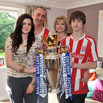 Barclays Premier League trophy visits Newcastle