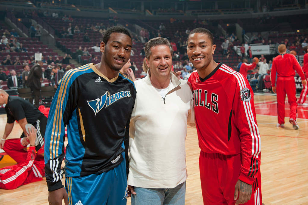 low priced 27d54 8add6 Point Guards John Wall and Derrick Rose pose with their fo ...
